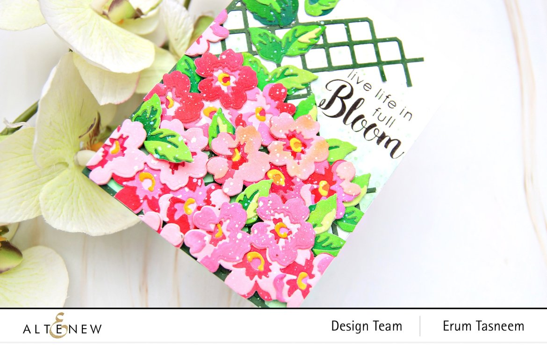 Altenew Mini Flower Cluster Layering Die Set + Garden Trellis Cover Di | Erum Tasneem | @pr0digy0