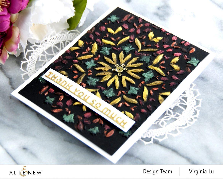 Altenew-Charming Mandala 3D Embossing Folder-Slim Sentiment Die Set-Metallic Watercolor 14 Pan Set-001