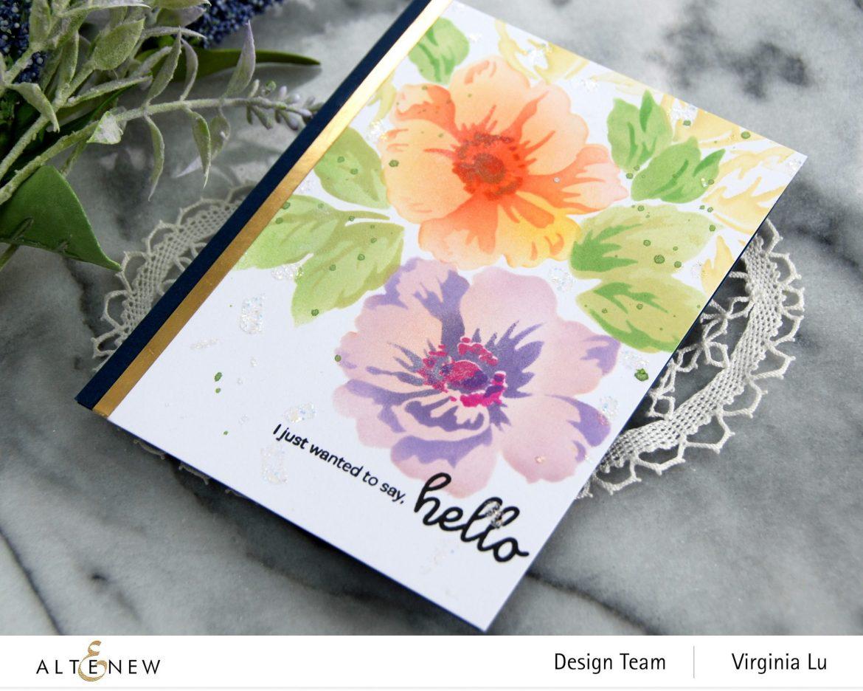 Altenew-Greenwood Flowers Stencil Set-Bouquet of Love Stamp Set-002