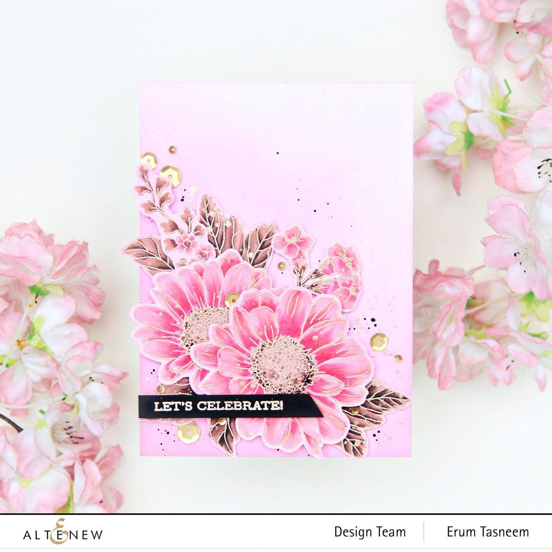 Altenew Spring Daisy Stamp Set   Erum Tasneem   @pr0digy0