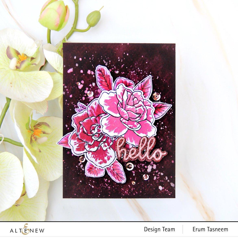 Altenew Gardenia Duo Stamp Set | Erum Tasneem | @pr0digy0