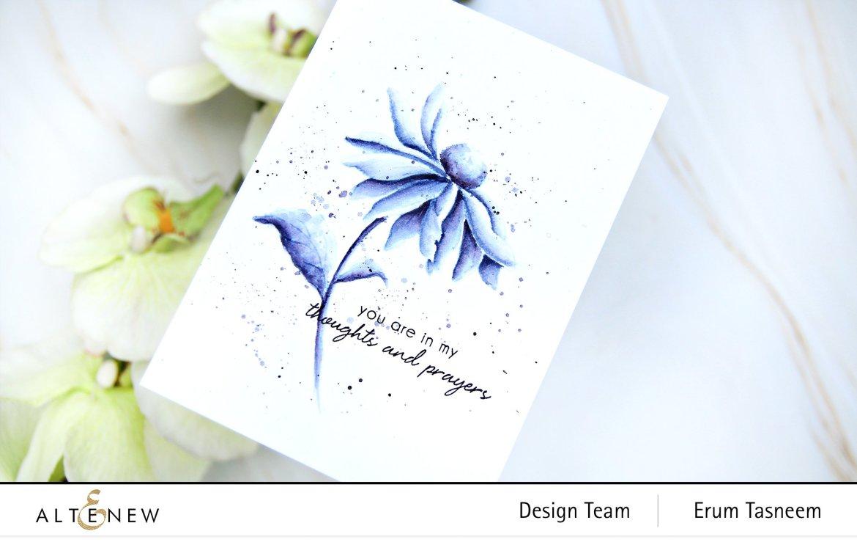Altenew Build-A-Flower: Coneflower Stamp Set   Erum Tasneem   @pr0digy0