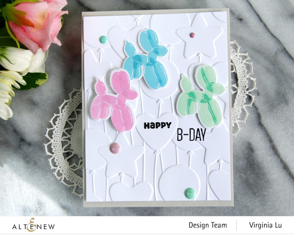 Altenew-MD Happy Birthday-Bunches of Balloons 3D Embossing Folder -003