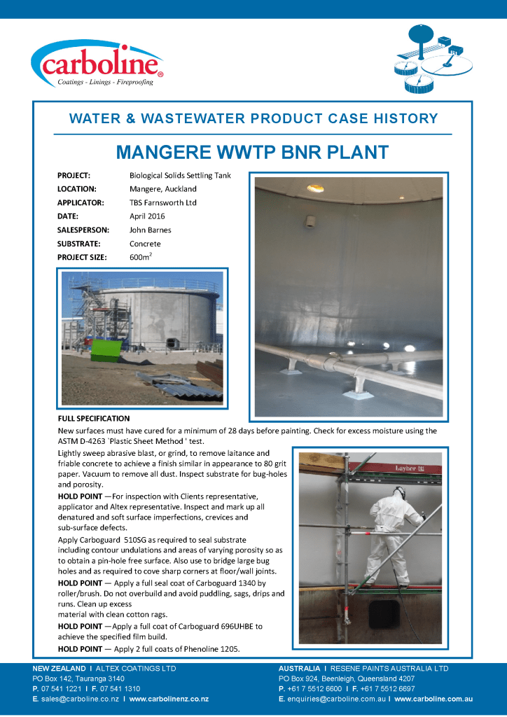 Mangere WWTP BNR Plant Case Hist Apr 2016