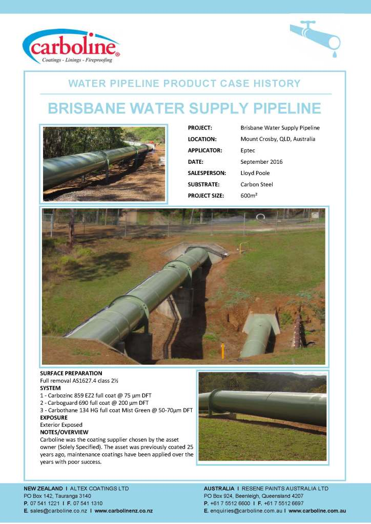 Friday Flash - Brisbane Water Supply pipeline