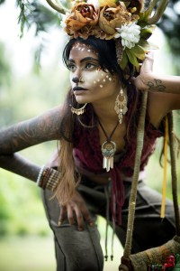 LIVING THE MOMENT: Priya leads a fairy forest dance