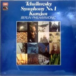 (英)EMI ASD2814 モノクロ切手ラベル ヘルベルト・フォン・カラヤン指揮ベルリン・フィル、チャイコフスキー:交響曲 No.4