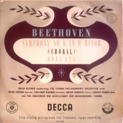 UK DECCA LXT-2796 ERICH KLEIBER, THE VIENNA PHILHARMONIC ORCHESTRA, GUEDEN, WAGNER, DERMOTA, WEBER – BEETHOVEN: SYMPHONY No.9 CHORAL – http://amzn.to/pJC3AP