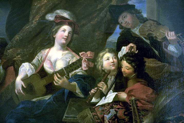 Man Playing The Flute, 1734