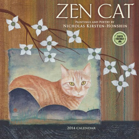Zen Cat 2014 wall calendar