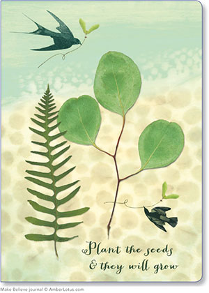 Plant the Seeds & They Will Grow journal featuring artwork by Leslie Gignilliat-Day. Perfect for all your gardening notes.
