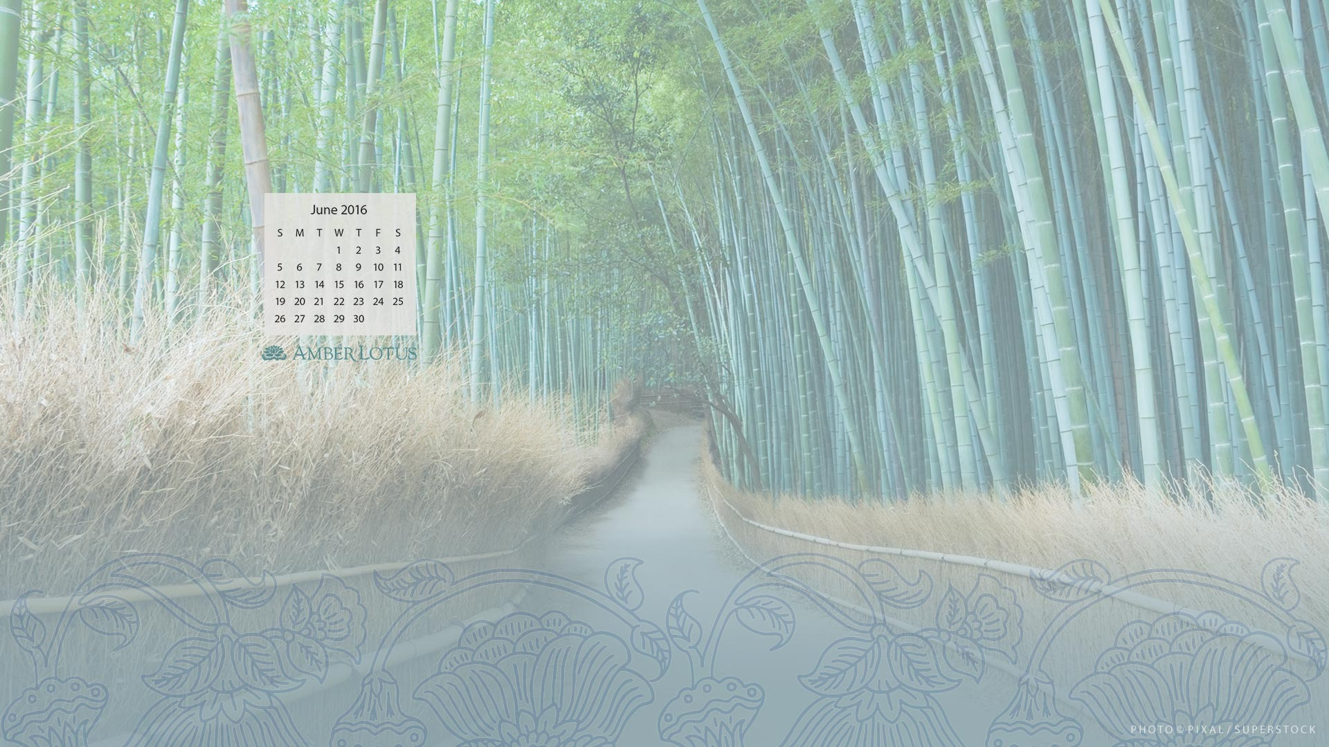 Desktop Wallpaper Calendar — June 2016 — Free to Download - Amber ...