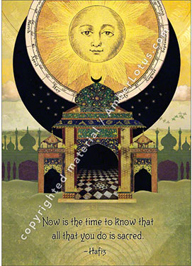 Now Is the Time greeting card featuring artwork by Duirwaigh Studios.