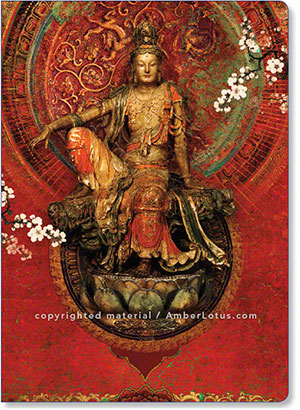 Kuan Yin journal featuring the beautiful artwork of Duirwaigh Studios. Click image for more info.