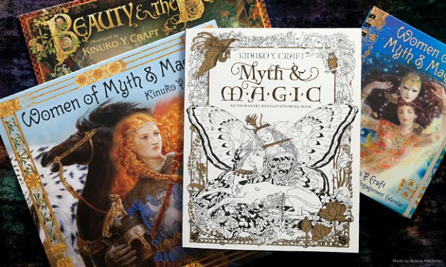 Kinuko Y. Craft coloring book