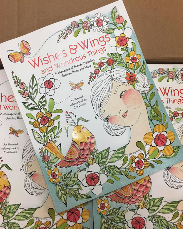 Wishes and Wings coloring book