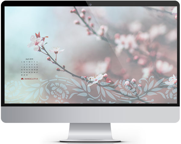 April Desktop Wallpaper Calendar