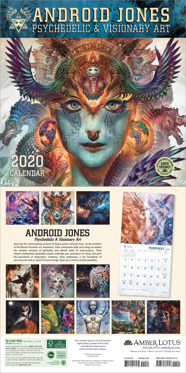 Android Jones 2020 wall calendar