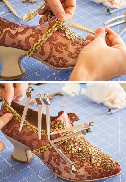 American Duchess 18th Century Shoe Decorating Tutorial