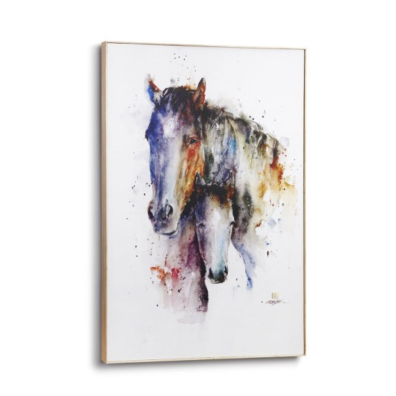 A Mother's Love Watercolor Horse Painting