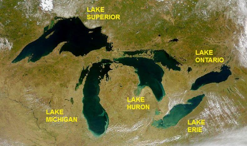 Great Lakes labeled