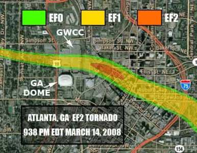 Atlanta Tornado And Impacts: Weather 2009