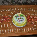 Decoration of Birthday Cake