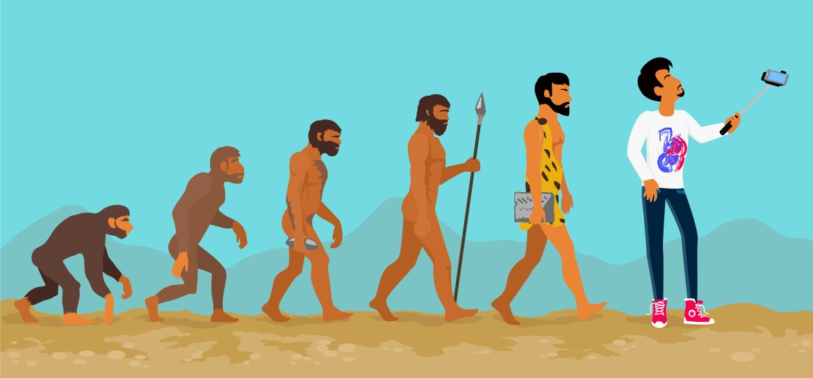 evolution of caveman to modern age