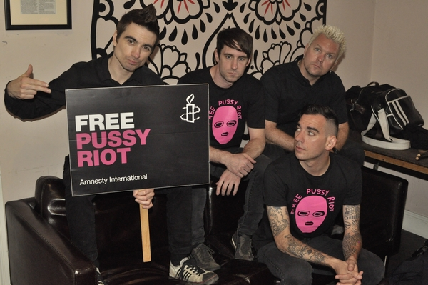 Anti-Flag is one of over one hundred artists who have signed an appeal letter demanding the release of Pussy Riot (Photo Credit: James Nash).