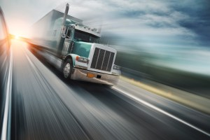 Recent Diesel Oil Trends Consumption - Truck on freeway