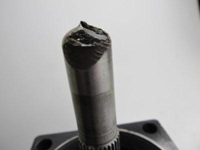 Sheared Hydraulic Pump Shaft