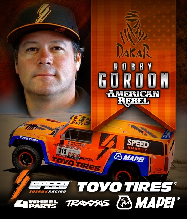 Dakar Robby Gordon American Rebel toyo tires traxxas