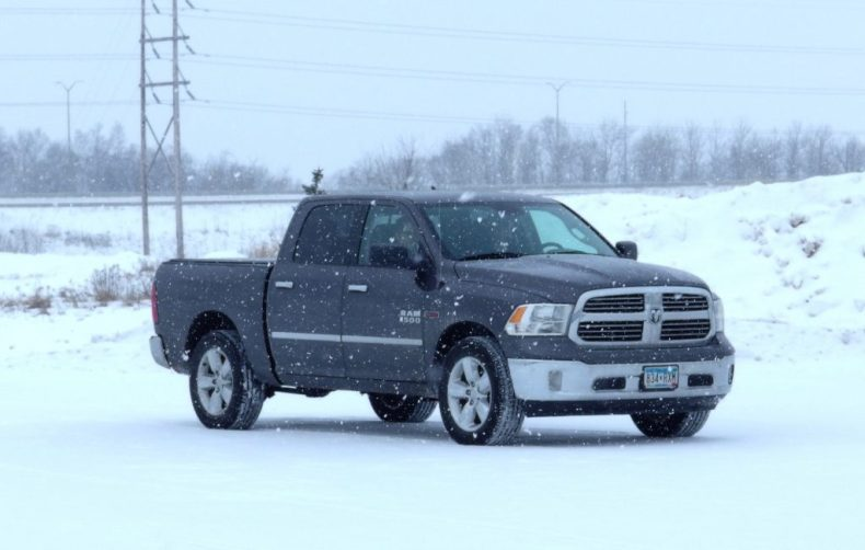 dodge ram in winter