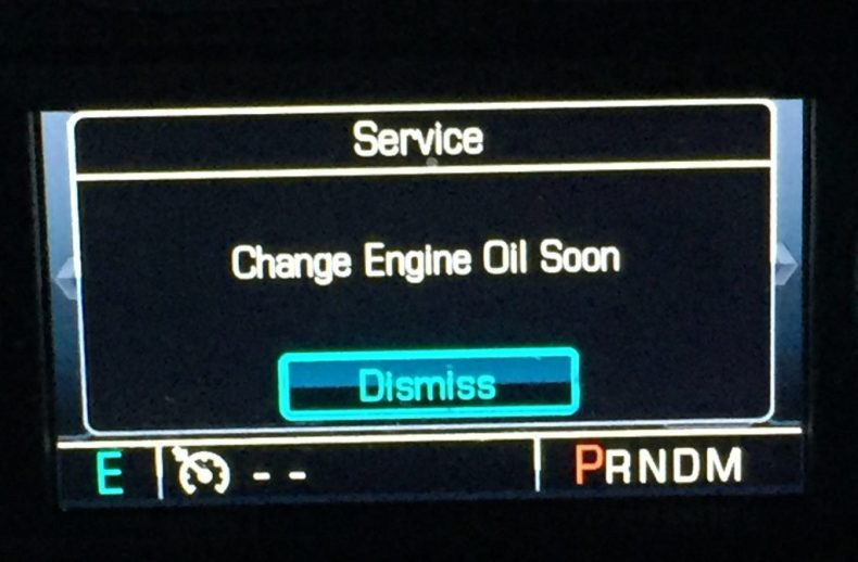 service change engine oil soon