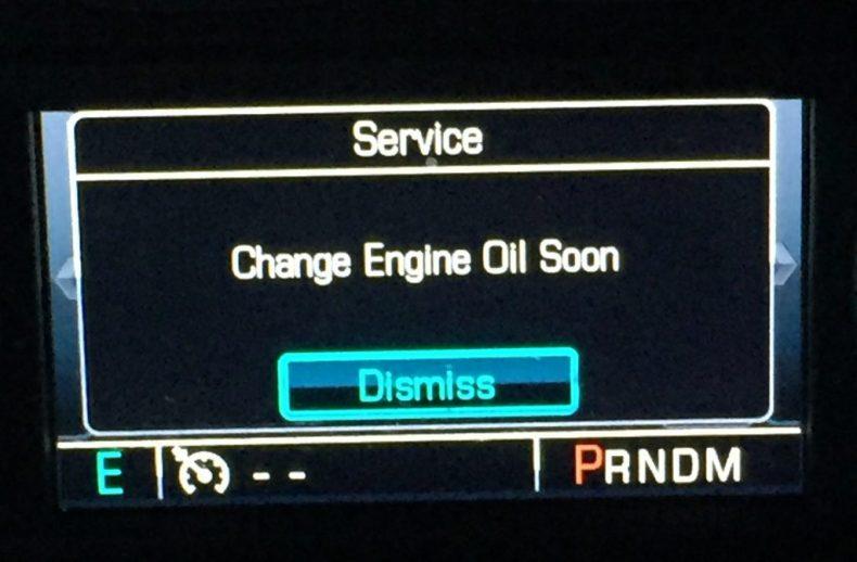 service change engine oil soon