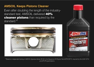 AMSOIL keeps pistons cleaner