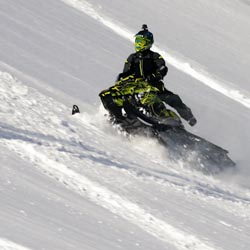 How to sidehill when backcountry snowmobiling.