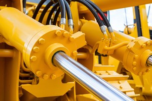 Hydraulic fluid is used to actuate components.