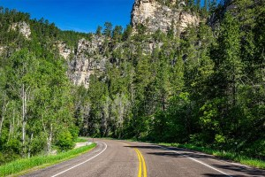 Spearfish Canyon Byway is one of the best Sturgis motorcycle rides.