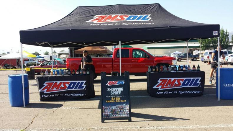 AMSOIL Autocross/Drifting event booth