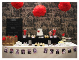 Flamenco Rose Inspired Guest Dessert Table