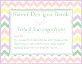 Sweet Designs Virtual Scavenger Hunt: Clue #3