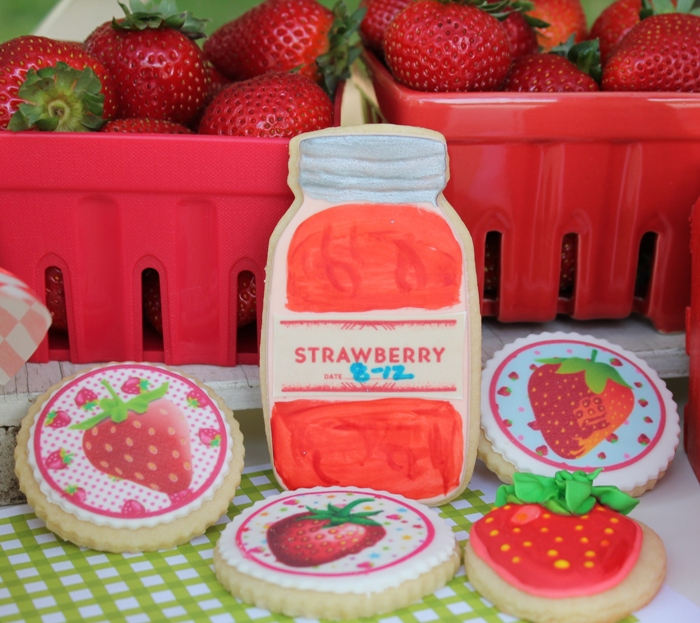 Strawberry Jam Shaped Sugar Cookies