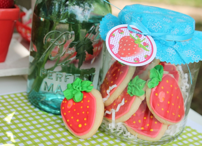 Strawberry Shaped Sugar Cookies