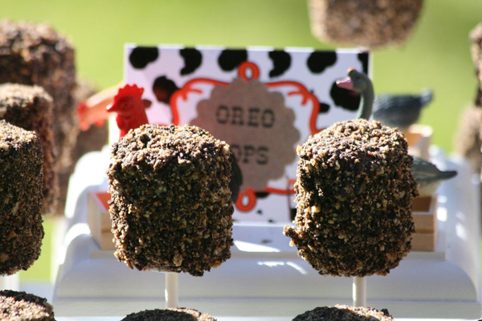 Oreo Pops Down On The Farm Dessert Table