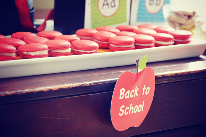 Back to School Dessert Table Macarons