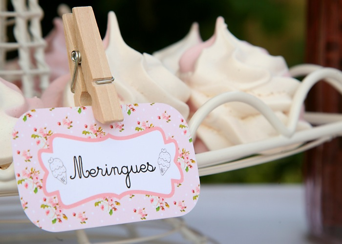 Ice Cream Party Dessert Table Party for Kids Meringue