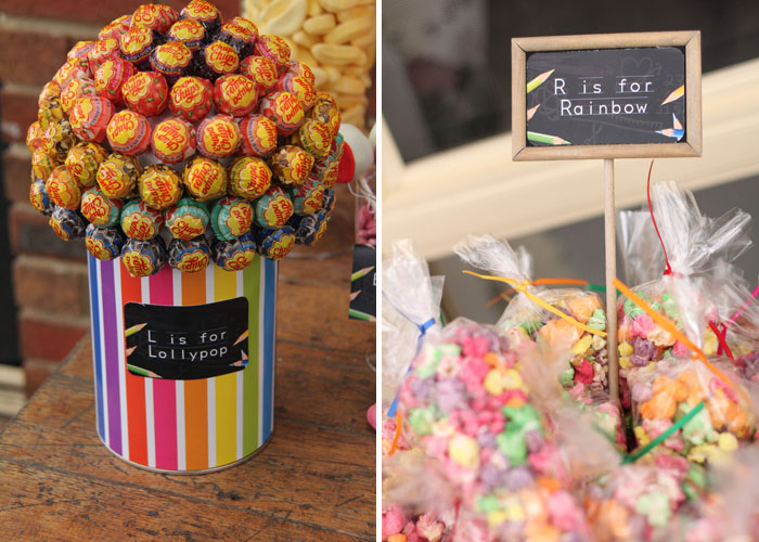 Back 2 School Dessert table Lollipop tree