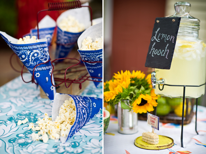 Burlap and bluegrass dessert table