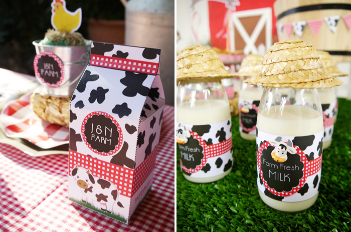 Barnyard Birthday Kids Parties beverages
